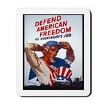 Defend American Freedom Mousepad