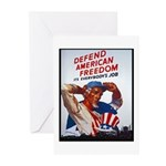 Defend American Freedom Greeting Cards (Package of