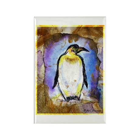 Penguin, colorful, Penguin, Rectangle Magnet (100