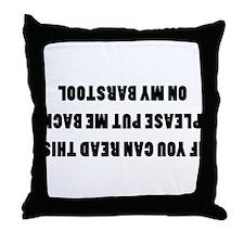 Bar Stools Throw Pillow