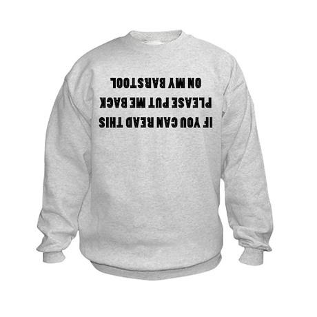 Bar Stools Kids Sweatshirt
