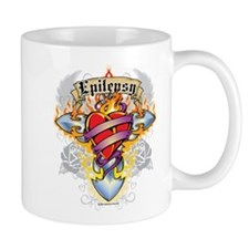 Epilepsy Cross & Heart Mug