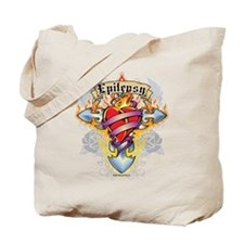 Epilepsy Cross & Heart Tote Bag