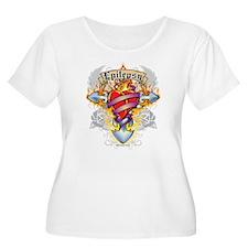Epilepsy Cross & Heart T-Shirt