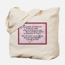 100 Years, Mauve - Tote Bag