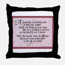 100 Years, Mauve - Throw Pillow