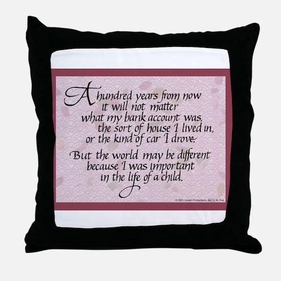 100 Years, Mauve - Throw Pillow