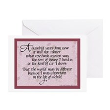100 Years, Mauve - Greeting Cards (Pk of 10)