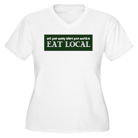 Local Money - Women's Plus Size V-Neck T-Shirt