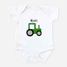Wyatt - Green Tractor Infant Bodysuit