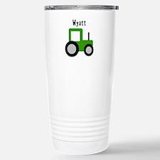 Wyatt - Green Tractor Stainless Steel Travel Mug