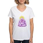 HAPPY BUDDHA Women's V-Neck T-Shirt