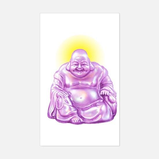 HAPPY BUDDHA Sticker (Rectangle)