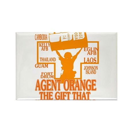 AGENT ORANGE BARRELL Rectangle Magnet