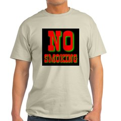 No Smoking Neon Ash Grey T-Shirt