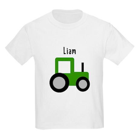 Liam - Green Tractor Kids Light T-Shirt