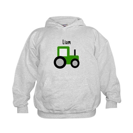 Liam - Green Tractor Kids Hoodie