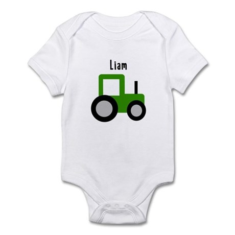 Liam - Green Tractor Infant Bodysuit