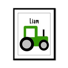 Liam - Green Tractor Framed Panel Print