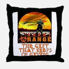 AGENT ORANGE SUNSET Throw Pillow