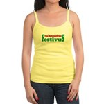 Real Men Celebrate Festivus Jr. Spaghetti Tank