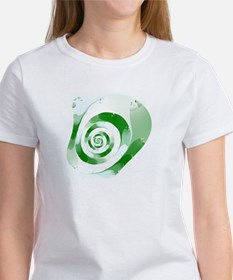 Green Swirl Fractal Women's T-Shirt