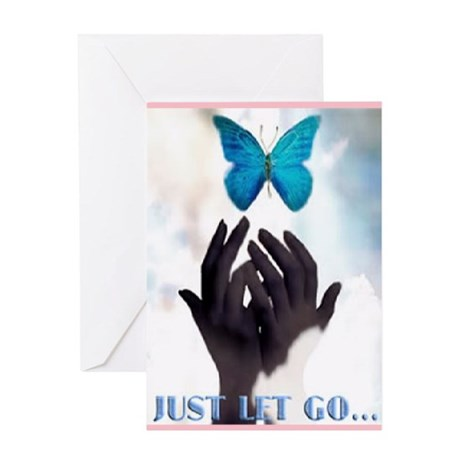 JUST LET GO Greeting Card