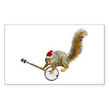 Christmas Banjo Squirrel Decal