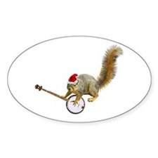 Christmas Banjo Squirrel Decal