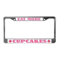 Eat More Cupcakes License Plate Frame