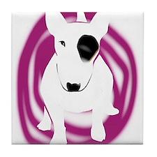 English Bull Terrier dog Tile Coaster