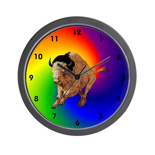 yellow buffalo wall clock by dingostuff