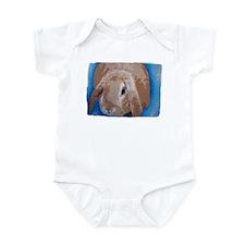 Infant Bodysuit cute blue lop eared rabbit