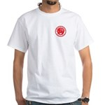 Park-O-Lators Round Logo White T front and back