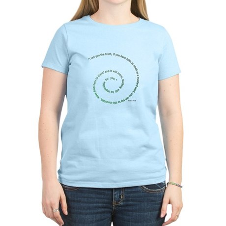 Faith the Size of a Mustard S Women's Light T-Shir