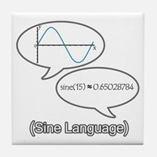 Sine Language Tile Coaster