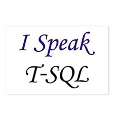 """I Speak T-SQL"" Postcards (Package of 8)"