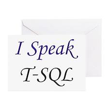 """""""I Speak T-SQL"""" Greeting Cards (Pk of 10)"""