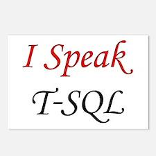 """""""I Speak T-SQL"""" Postcards (Package of 8)"""