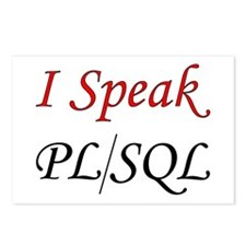 """I Speak PL/SQL"" Postcards (Package of 8)"