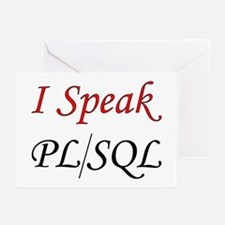 """I Speak PL/SQL"" Greeting Cards (Pk of 10)"