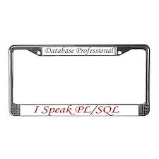"""""""I Speak SQL"""" License Plate Frame"""