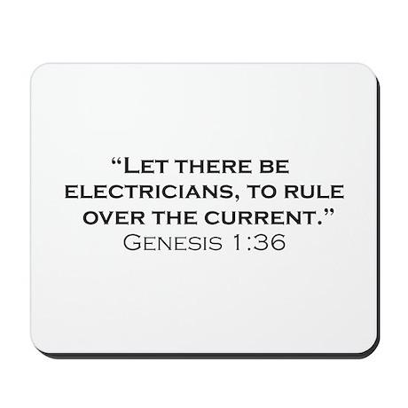 Electricians / Genesis Mousepad