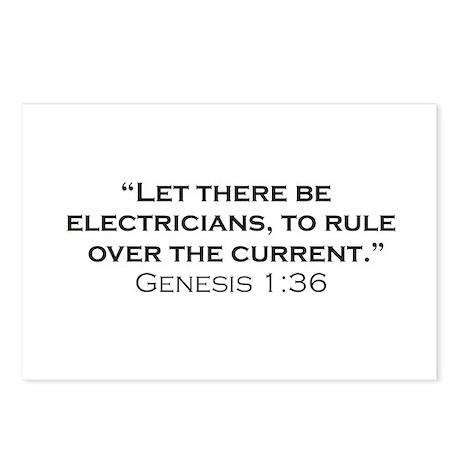 Electricians / Genesis Postcards (Package of 8)