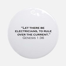 Electricians / Genesis Ornament (Round)