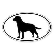 Labrador SILHOUETTE Oval Bumper Stickers