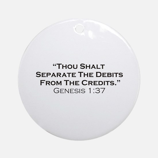 Credits / Genesis Ornament (Round)