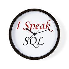 """""""I Speak SQL"""" Wall Clock"""