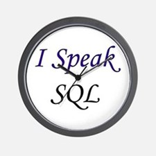 """I Speak SQL"" Wall Clock"