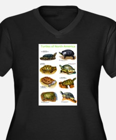 Turtles of North America Women's Plus Size V-Neck